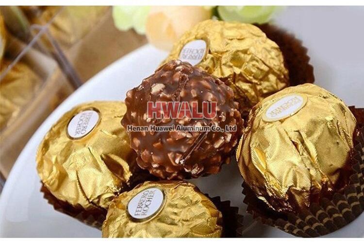 chocolate packing paper aluminum foil