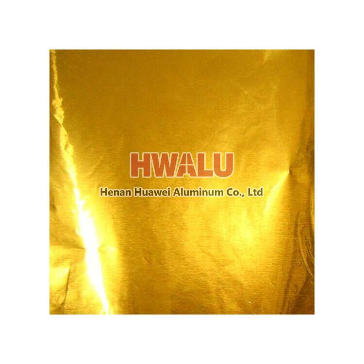 golden color aluminum foil paper